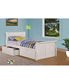 Twin Sleigh Bed with Dual Underbed Drawers