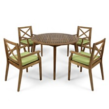 Pines Outdoor 5pc Dining Set, Quick Ship