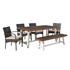 Luster Outdoor 6pc Dining Set, Quick Ship