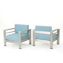 Cape Coral Outdoor Club Chair (Set of 2), Quick Ship