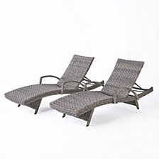 Crete Outdoor Chaise Lounge, Set of 2