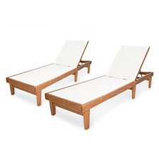 Sumrland Outdoor Chaise Lounge, Quick Ship (Set of 2)