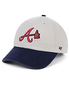 '47 Brand Atlanta Braves Gray 2-Tone CLEAN UP Cap