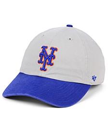 New York Mets Gray 2-Tone CLEAN UP Cap