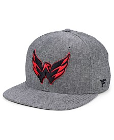 Authentic NHL Headwear Washington Capitals Chambray Emblem Snapback Cap