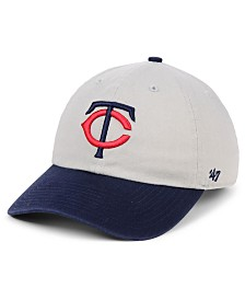'47 Brand Minnesota Twins Gray 2-Tone CLEAN UP Cap