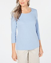 4d04e74b Karen Scott Cotton 3/4-Sleeve Top, Created for Macy's
