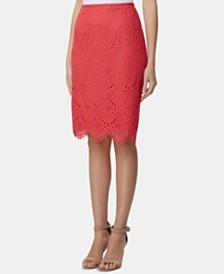 Tahari ASL Lace Pencil Skirt
