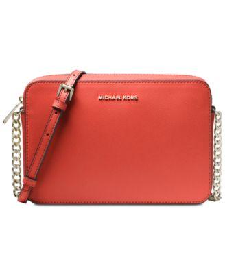 ca606a44e8a2 Michael Kors Jet Set East West Crossgrain Leather Crossbody & Reviews -  Handbags & Accessories - Macy's