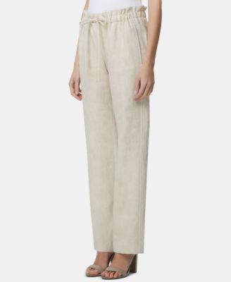 Petite Wide-Leg Pull-On Pants