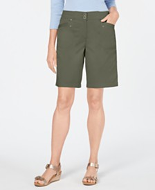 Karen Scott Knit-Waistband Bermuda Shorts, Created for Macy's