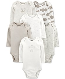 Baby Boys or Girls 6-Pack Printed Cotton Bodysuits