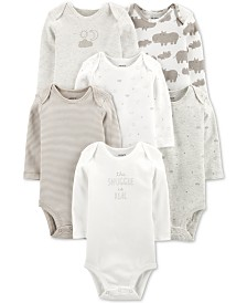 Carter's Baby Boys or Girls 6-Pack Printed Cotton Bodysuits