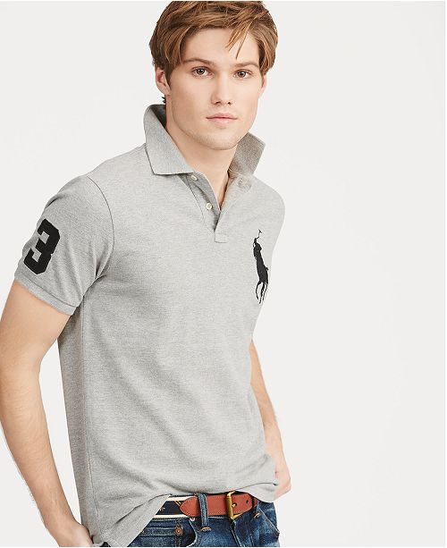 654f06ed Polo Ralph Lauren Men's Big Pony Custom Slim Fit Mesh Polo & Reviews ...