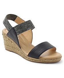 Switzerland Stretch Espadrille Wedge Sandals
