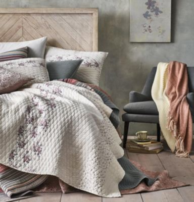 Rustic Yarn-Dyed Stripe 100% Cotton King Quilt, Created for Macy's