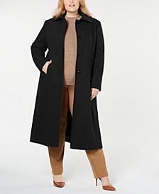 Plus Size Notch-Collar Maxi Coat