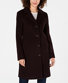 Single-Breasted Notch-Collar Coat