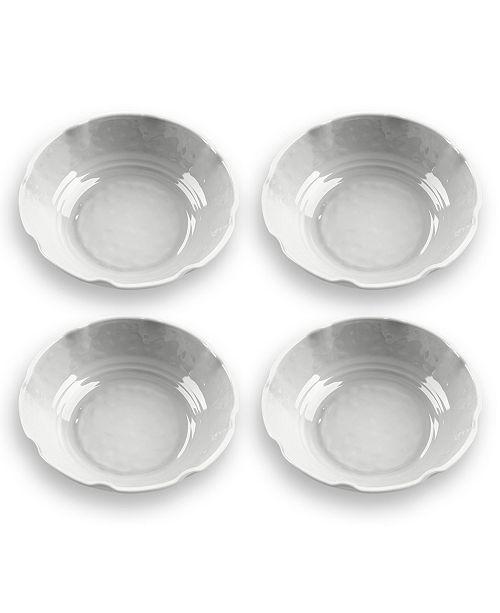TarHong Savino White Pasta Bowl, Set of 4