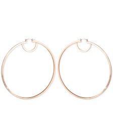 GUESS Flat Edge Hoop Earrings