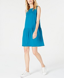 Drop-Waist Mini Tencel ™ Dress, Regular & Petite