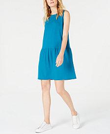 Eileen Fisher Drop-Waist Mini Tencel ™ Dress, Regular & Petite