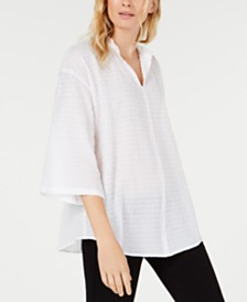 Eileen Fisher Three-Quarter-Sleeve Tunic