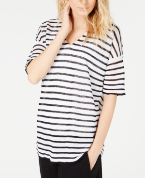 Eileen Fisher Tops V-NECK STRIPED TOP