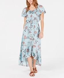 American Rag Juniors' Printed High-Low Maxi Dress, Created for Macy's