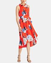 106c195971b06 RACHEL Rachel Roy Concetta Floral-Print Tie-Waist Dress