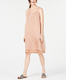 Eileen Fisher Layered Dress & Silk Slip