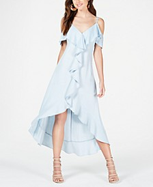 Ruffled Cold-Shoulder Dress