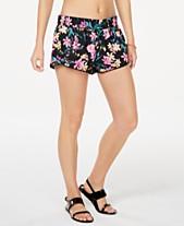 18367fe484e65e California Waves Juniors' Wildflower Printed Swim Shorts, Created for Macy's