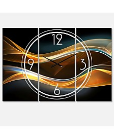 Designart Modern and Contemporary 3 Panels Metal Wall Clock