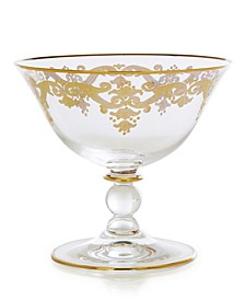 Footed Serving Bowl With 24K Gold Artwork