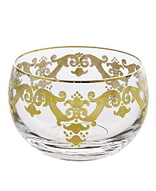 Small Glass Bowl With 24K Gold Artwork