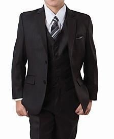 Tonal Stripe 2 Button Front Closure Suits Boys Suit, 5 Piece