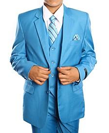 Little Boys Solid 2 Button Vested Boys Suit 5 Piece
