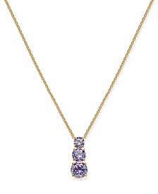 "Cubic Zirconia Graduated Pendant Necklace, 16"" + 1"" extender, Created for Macy's"