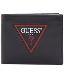 GUESS Men's Zip RFID Leather Passcase Wallet