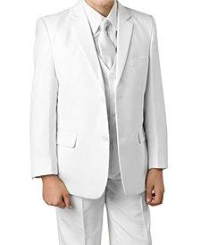 Tazio Solid 2 Button Front Closure Boys Suit, 5 Piece