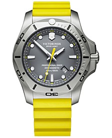 Men's I.N.O.X. Pro Diver Yellow Rubber Strap Watch 45mm