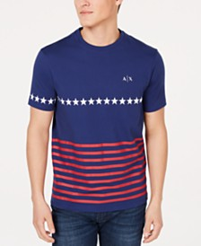 A|X Armani Exchange Men's Stars & Stripes Logo Graphic T-Shirt  Created For Macy's