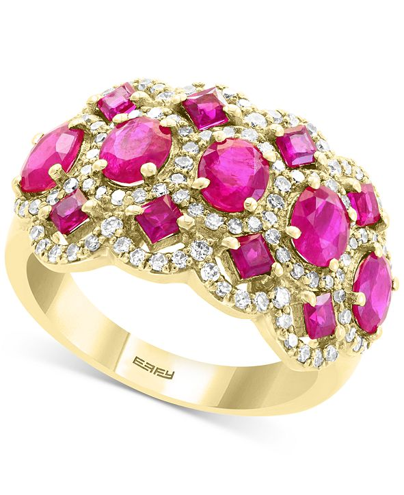 EFFY Collection EFFY® Certified Ruby (2-3/4 ct. t.w.) & Diamnd (5/8 ct. t.w.) Ring in 14k Gold