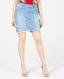 INC Curvy Tulip-Hem Jean Skirt , Created for Macy's