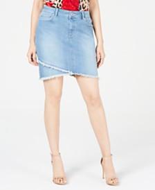 I.N.C. Curvy Tulip-Hem Jean Skirt , Created for Macy's
