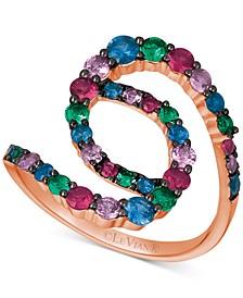 Multi-Gemstone (1-1/4 ct. t.w.) Statement Ring in 14k Rose Gold