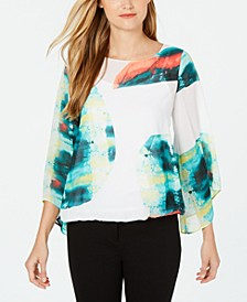Abstract-Print Blouse, Created for Macy's