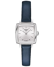 Women's Swiss T-Lady Lovely Blue Leather Strap Watch 20mm