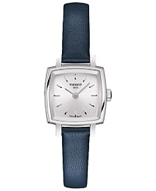Tissot Women's Swiss T-Lady Lovely Blue Leather Strap Watch 20mm